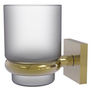 Allied Brass Montero Unlacquered Brass Tumbler Holder
