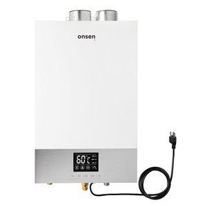 Chauffe-eau sans réservoir d'intérieur Onsen au gaz naturel de 3,7 gal/min et 100 000 BTU