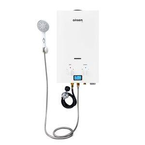 Chauffe-eau sans réservoir d'extérieur Onsen au propane de 1,8 gal/min et 50 000 BTU
