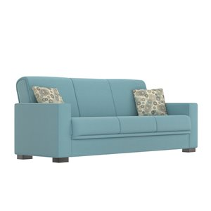 Handy Living Pascoe Turquoise Blue Polyester Sofa Bed
