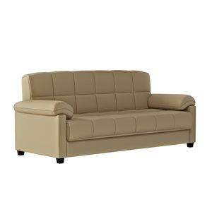 Handy Living Wallen Mocha Brown Polyester Sofa Bed