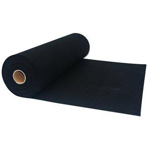 Sous-couche de plancher noire de 200 pi² par RubberMax de 2 mm d'épaisseur