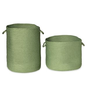 Colonial Mills Clean & Dirty Moss Green Woven Hampers - Set of 2