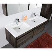 Vanité avec lavabo double Golden Elite, 60