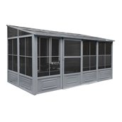 Gazebo Penguin 4 Seasons Solarium - 8'x16' - Gray