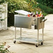 Sunjoy Stainless Steel Cooler - 80 Qt