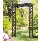 Metal Arch with Lanterns 80