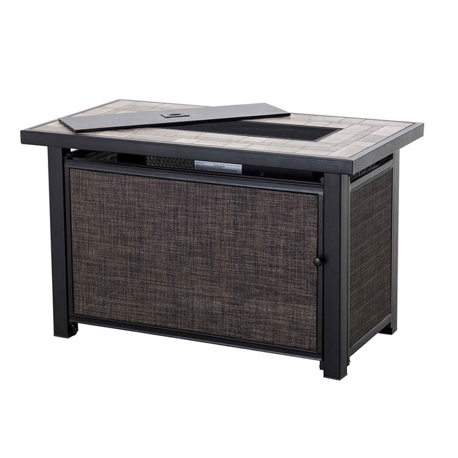 "Sunjoy Rectangular Fire Pit Table - 30,000 BTU - 40"" - Black"