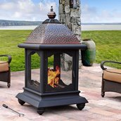 Sunjoy Outdoor Meridian Fireplace - 56