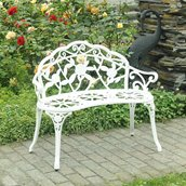 Banc de jardin rétro Sunjoy , blanc