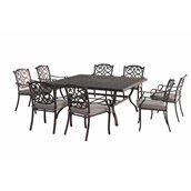 Ensemble à dîner pour patio Roosevelt de Sunjoy,9 mcx ,noir