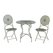 Sunjoy Soda Bistro Set - 3 Pieces - Off-White