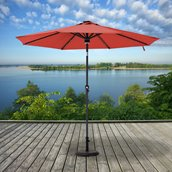Parasol de patio Sunjoy, 9 pi, rouge