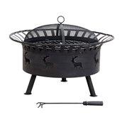Sunjoy Steel Round Fire Pit - 32