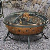 Sunjoy Constance Steel Fire Pit - 35.8