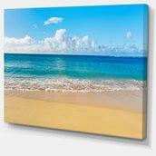 Toile imprimée, paisible plage de mer tropicale, 30