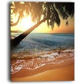 Tropical Beach Canvas Print - 30