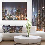 Canvas Print - Lit NYC Manhattan Skyline - 40