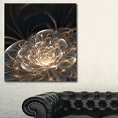 Fractal Flower with Golden Rays - Canvas Print - 30