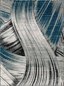 Evelyn Area Rug - 8'x11' - Grey/Dark Blue