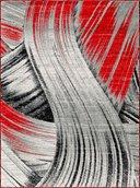 Mariah Area Rug - 2' x 3' - Grey/Red