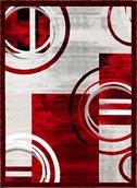 Tapis Nicole de la collection Luminance, rouge, 2'x3'